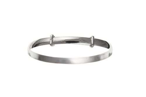 Child's Bangle Solid Silver Christening  7 - 13 years Plain Maids 925 Hallmark